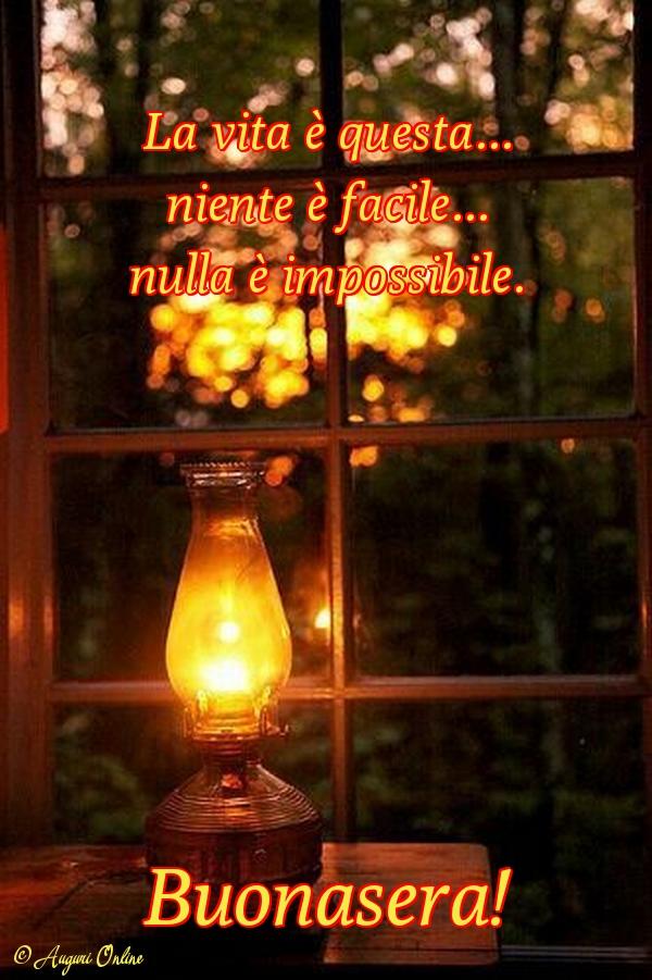 Auguri di buona serata - Buonasera!