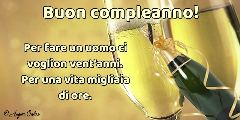 Immagine Con Champagne Buon Compleanno