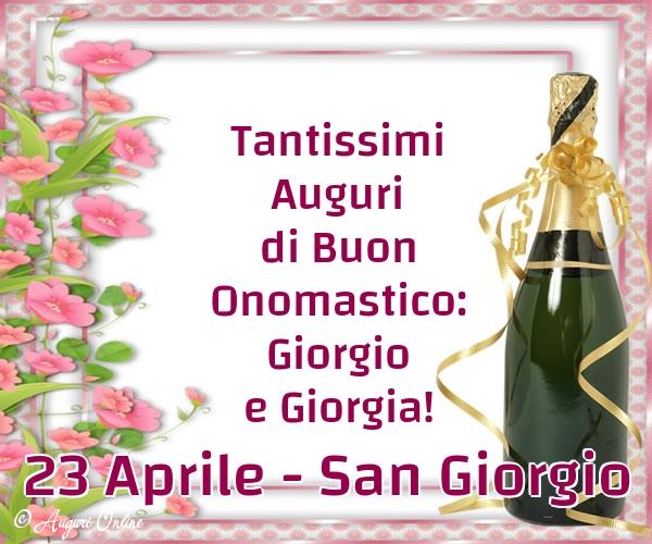 Auguri di San Giorgio - 23 Aprile - San Giorgio