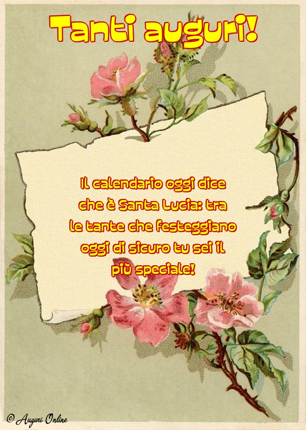 Santa Lucia Calendario.Il Calendario Oggi Dice Che E Santa Lucia Tra Le Tante Che