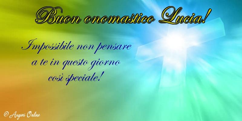 Auguri di Santa Lucia - Buon onomastico Lucia!
