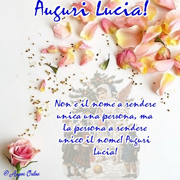 Auguri di Santa Lucia - Auguri Lucia!