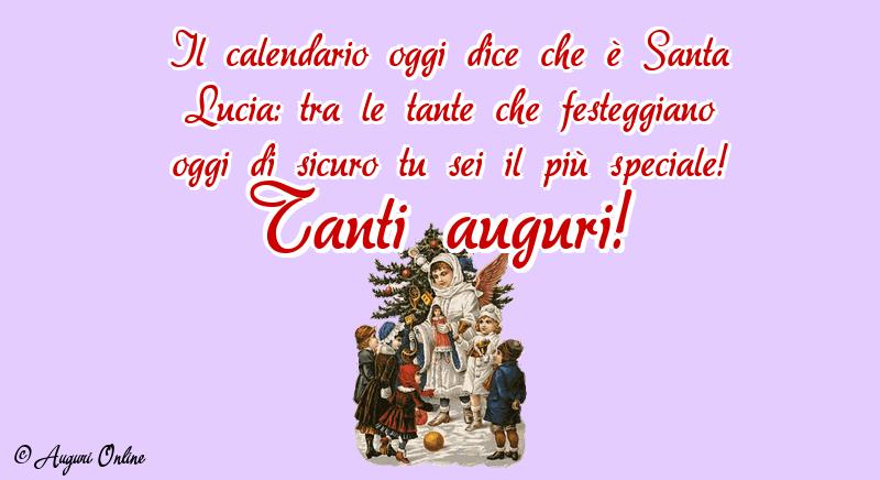 Auguri di Santa Lucia - Tanti auguri!