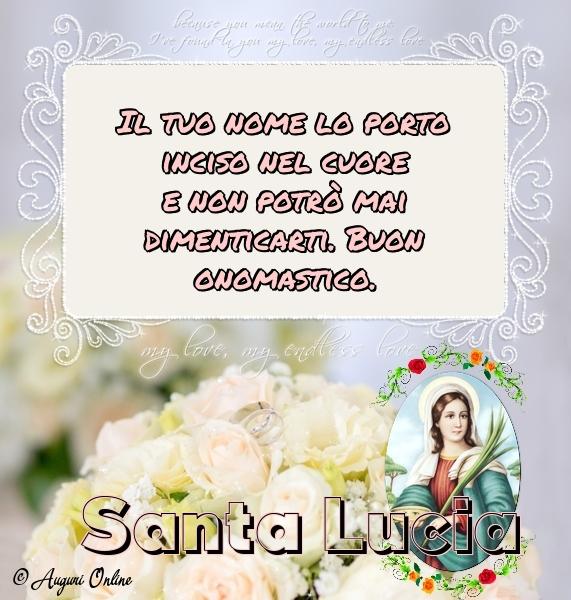 Auguri di Santa Lucia - Santa Lucia