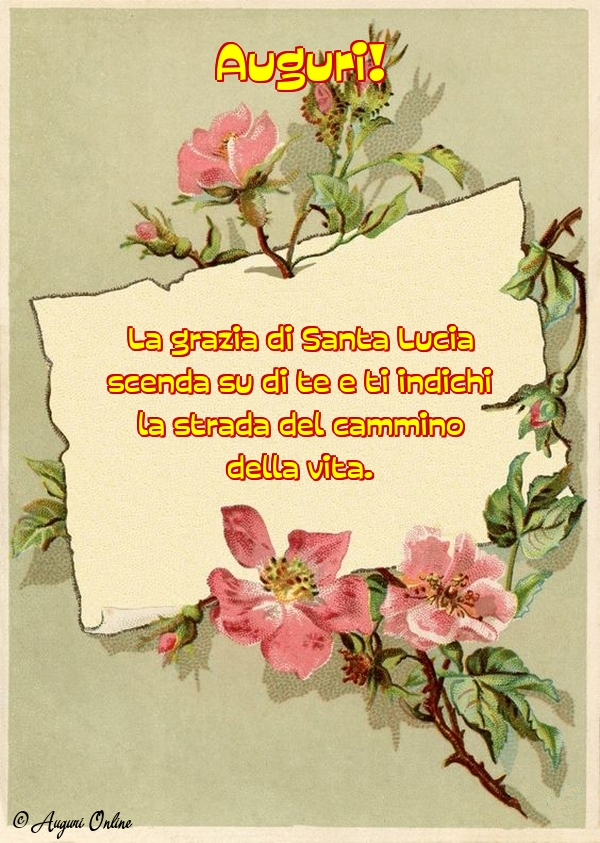 Auguri di Santa Lucia - Auguri!