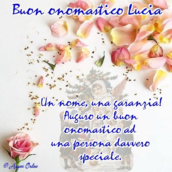 Auguri di Santa Lucia - Buon onomastico Lucia