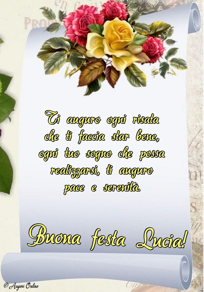 Auguri di Santa Lucia - Buona festa Lucia!