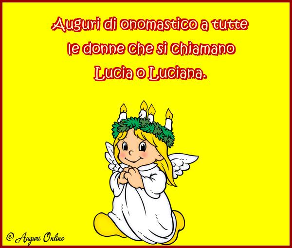 Auguri di Santa Lucia